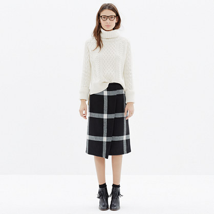 Wrap Midi Skirt in Plaid : midi & maxi | Madewell
