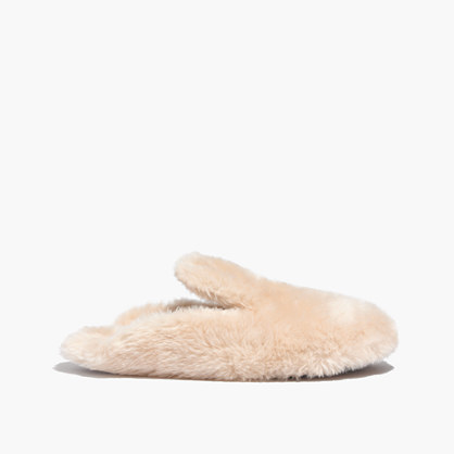 Faux-Shearling Snow Cloud Slippers