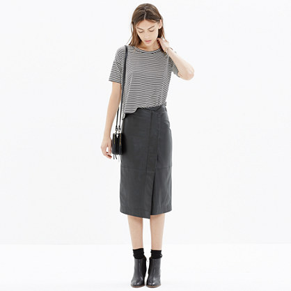 Leather Wrap Midi Skirt : midi & maxi | Madewell