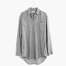 Flannel Sunday Shirt - HTHR MEDIUM GREY