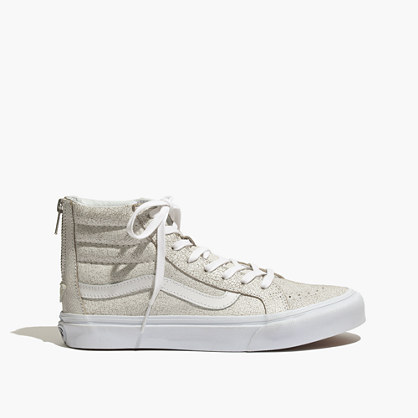 Vans® SK8-Hi Slim Zip High-Top Sneakers in Crackled Suede