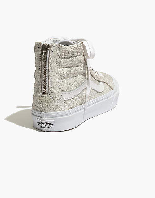 Vans® SK8 Hi Slim Zip High Top Sneakers in Crackled Suede