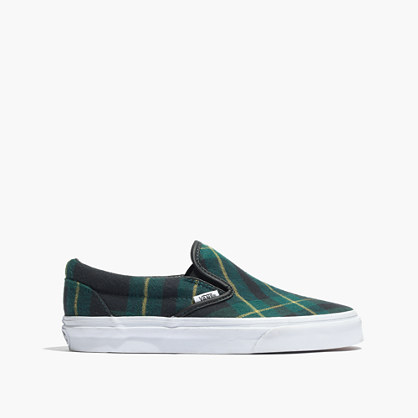 Vans® & Madewell Slip-On Sneakers in Plaid