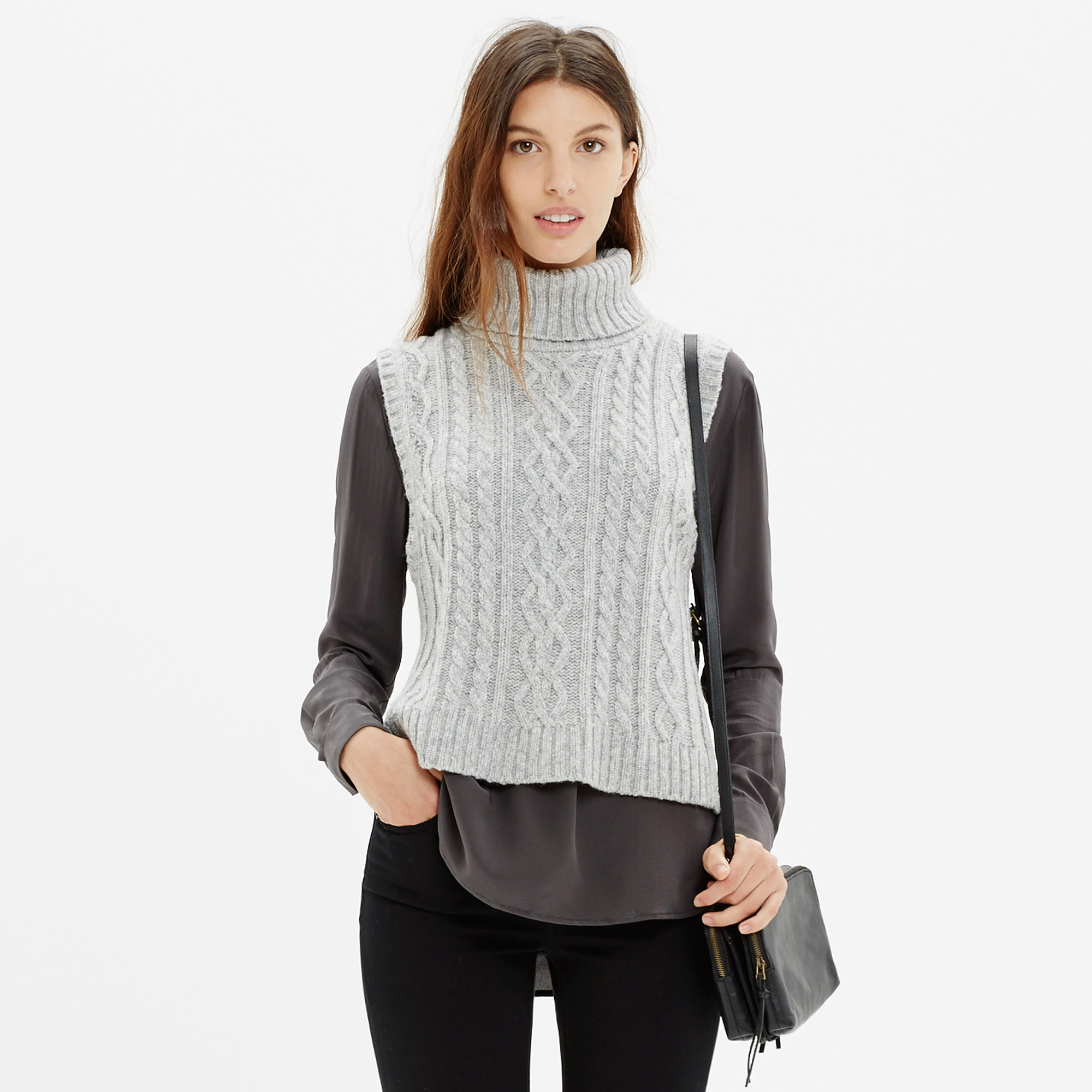 Turtleneck Sweater-Vest : pullovers | Madewell