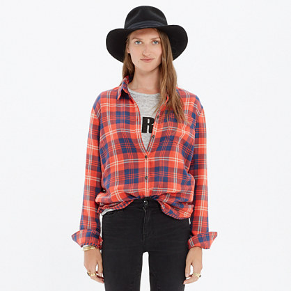 Cozy Shirt in Ember Plaid