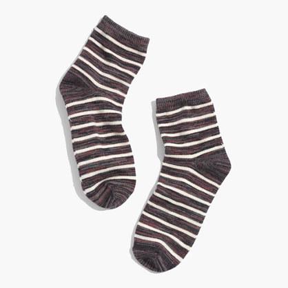 1937 Marled Stripe Ankle Socks