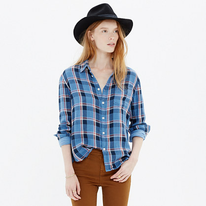 Cozy Shirt in Blue Plaid