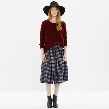 Midi Skirt in Ascot Grid