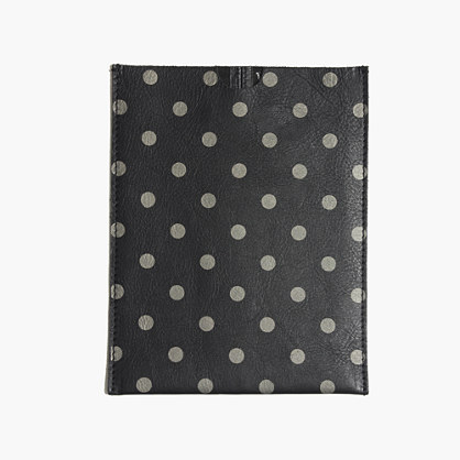 Leather iPad Mini Sleeve in Dot