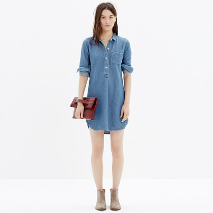 Chambray Popover Shirtdress