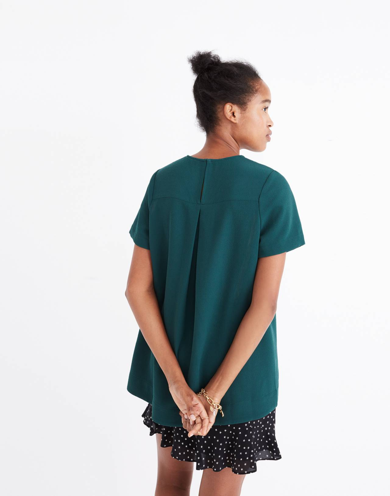 Tailored Tee in bowling green image 2