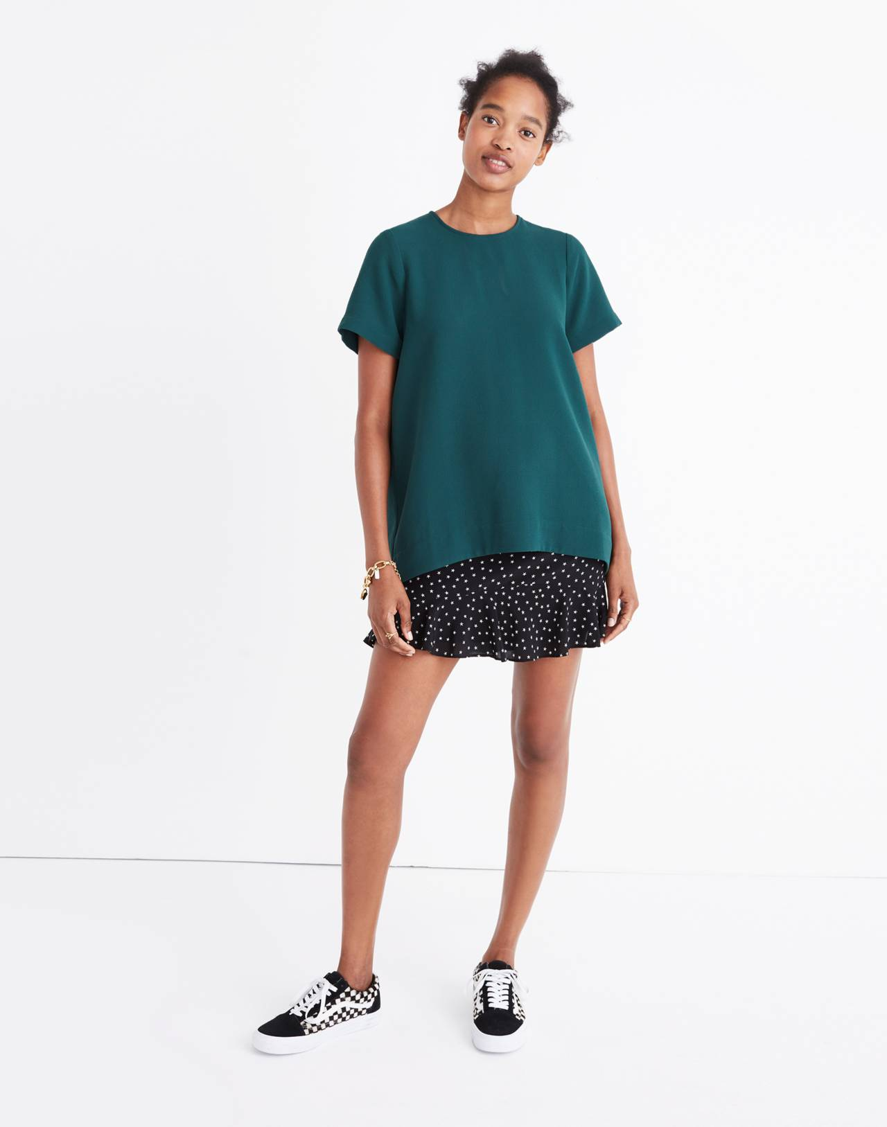 Tailored Tee in bowling green image 1