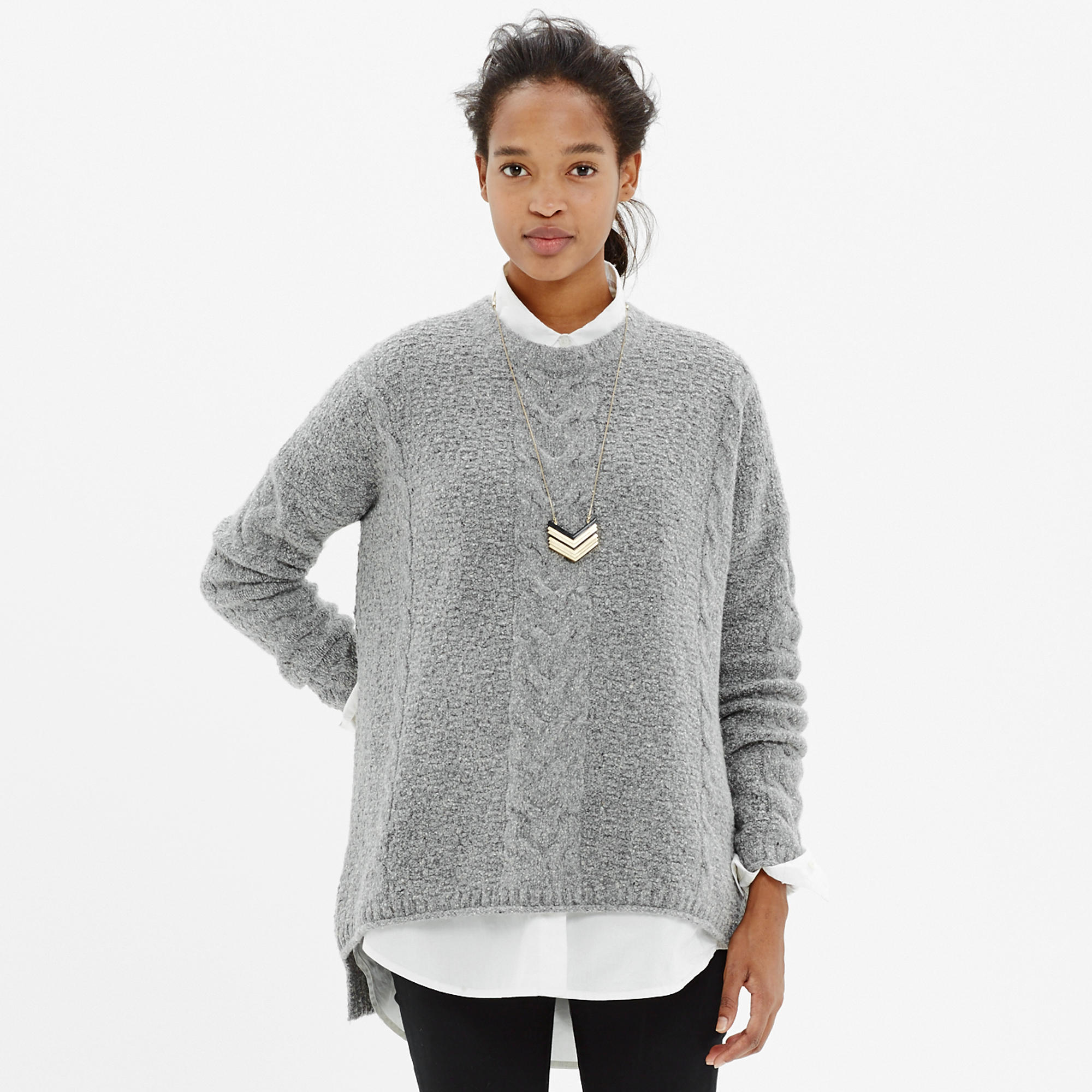 Easy Cable Pullover Sweater in Donegal : pullovers | Madewell