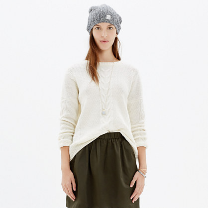 Easy Cable Pullover Sweater : pullovers | Madewell