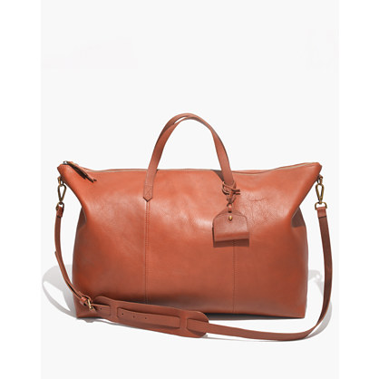 Image result for madewell leather weekender bag