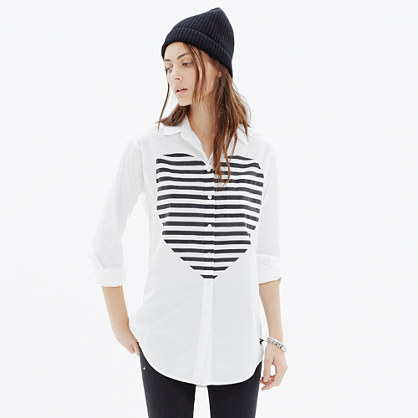 Heartbeat Oversized Button-Down Shirt