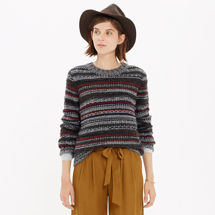 Folkstripe Pullover Sweater