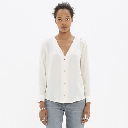 Madewell et Sézane® Silk Blouse