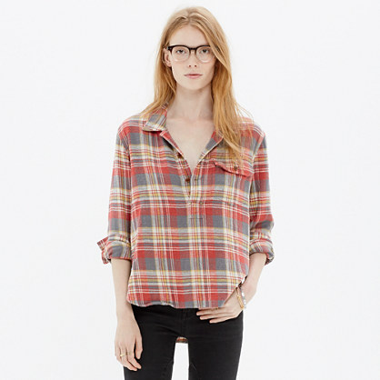 Rivet & Thread Popover Shirt in Thurston Plaid
