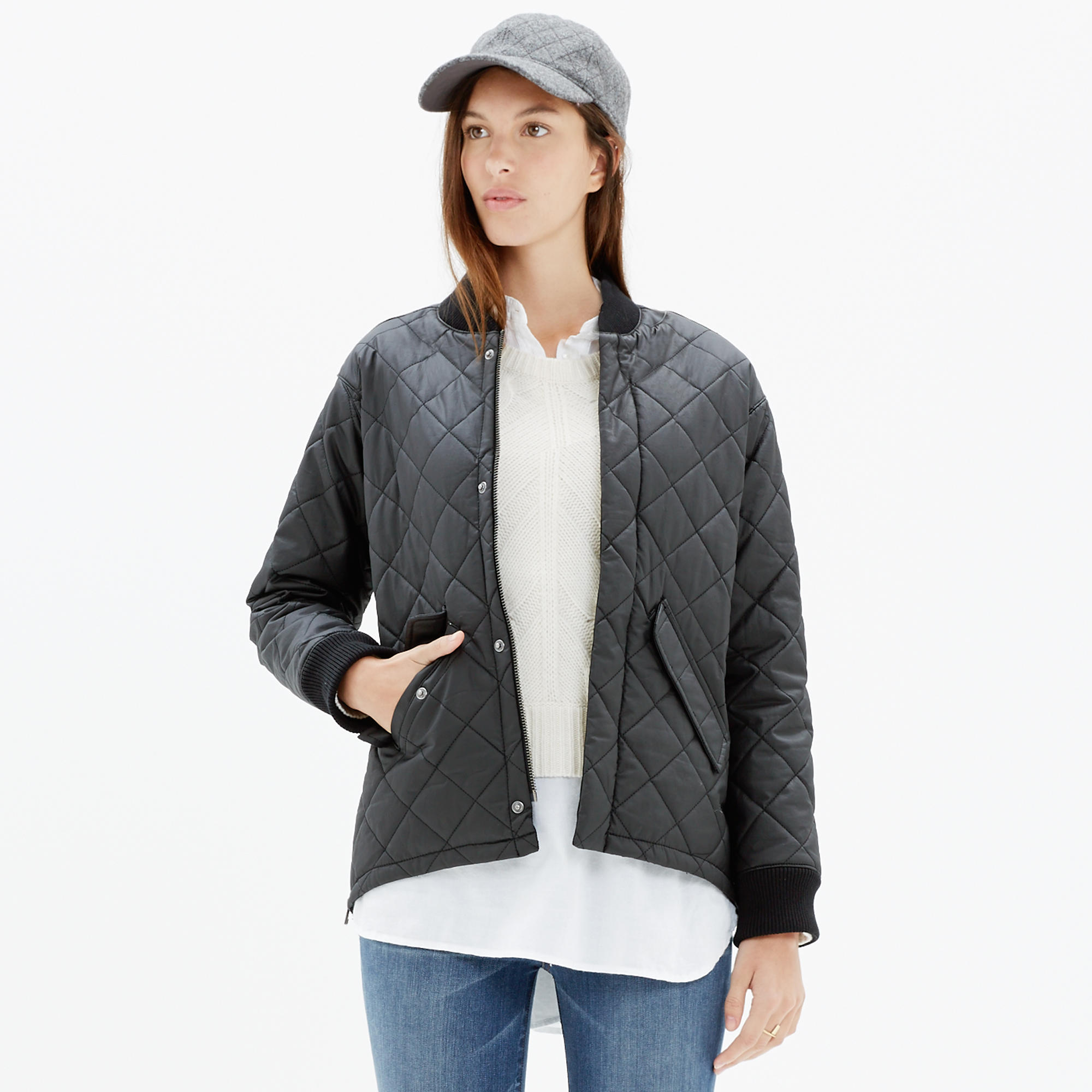 Quilted Session Bomber Jacket : jackets | Madewell : quilted sweaters - Adamdwight.com