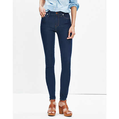 "Taller 9"" High-Rise Skinny Jeans in Davis Wash"