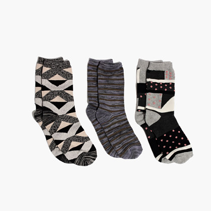 Three-Pack 1937 Print Trouser Socks