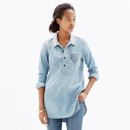 Chambray Little Love Popover Shirt
