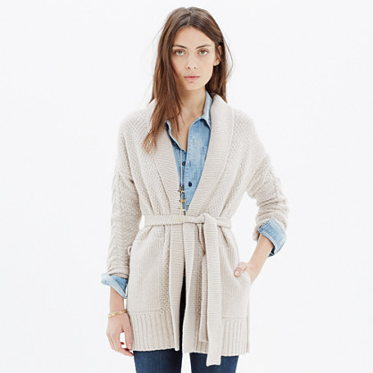 Shawl-Collar Wrap Cardigan Sweater : cardigans & sweater-jackets ...