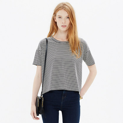 Crop Tee in Stripe