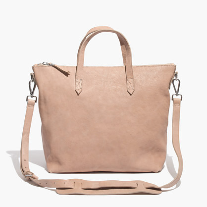 The Zip Transport Tote in Washed Leather