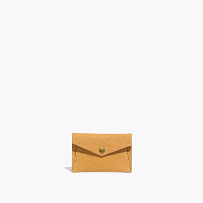 Leather Card Case in Washed Leather