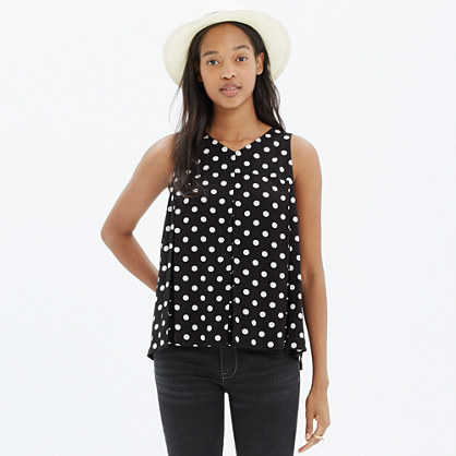 Trapeze Crop Tank in Dot Mix