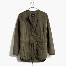 Quilted Drawstring Jacket - BRITISH SURPLUS