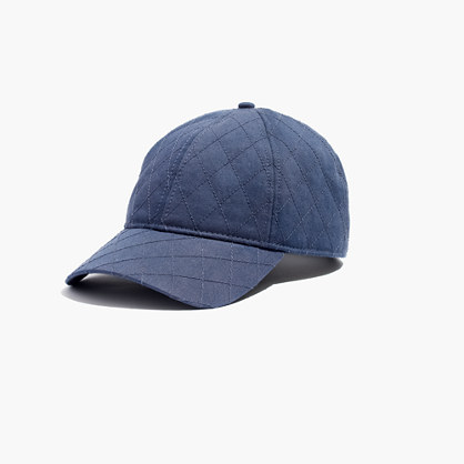 Quilted Cotton Baseball Hat