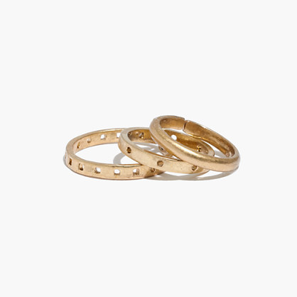 Punchcard Midi Ring Set