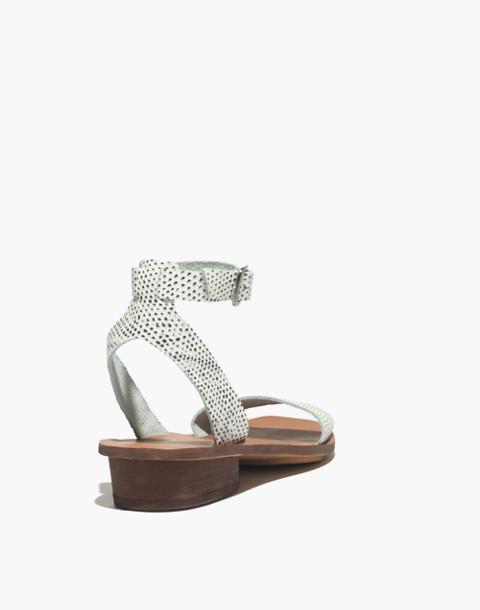 The Veronique Sandal in Snake Spot in eyelet white image 3