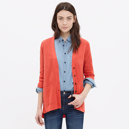 Spring-Weight Cardigan Sweater : cardigans & sweater-jackets ...