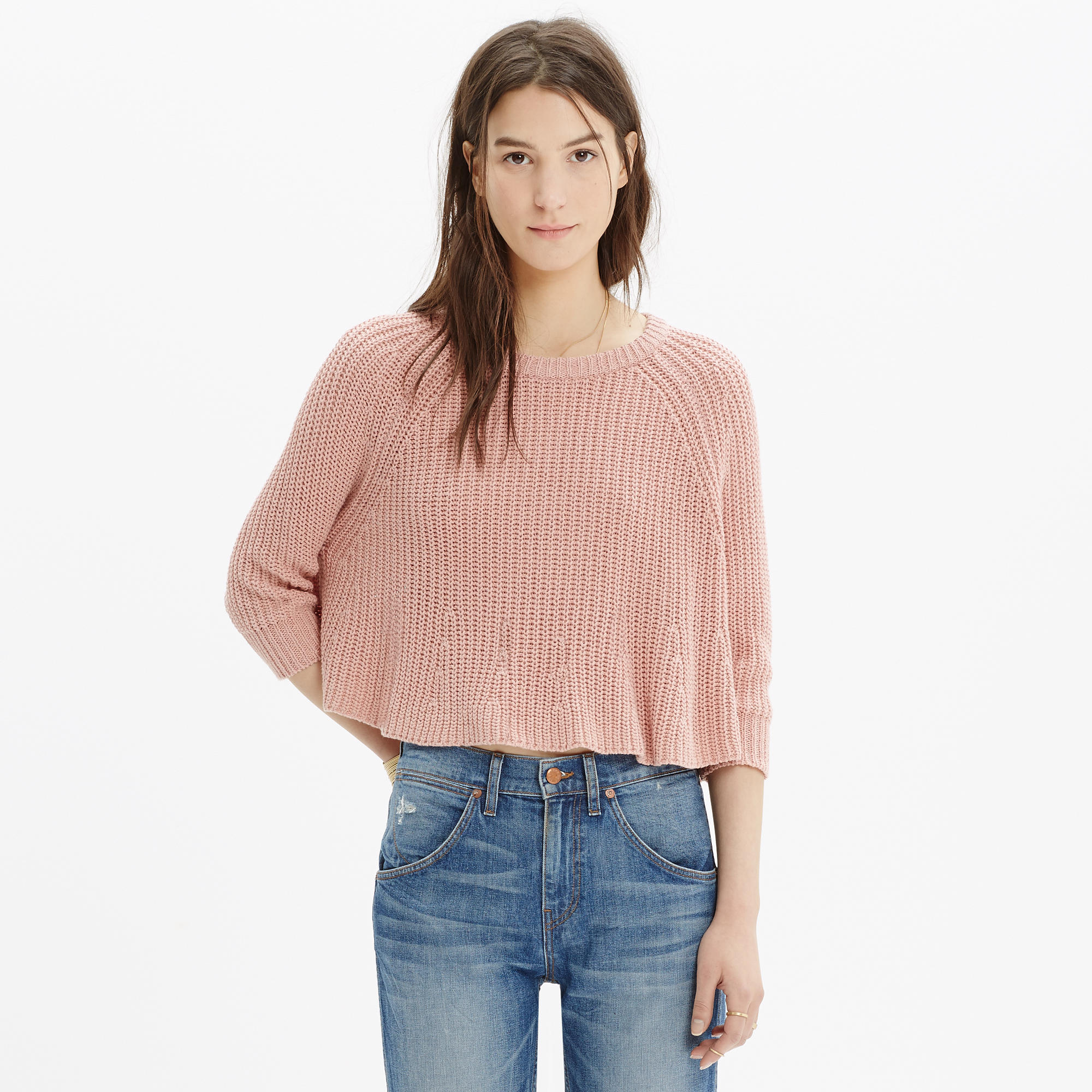 Swing Crop Sweater : pullovers | Madewell