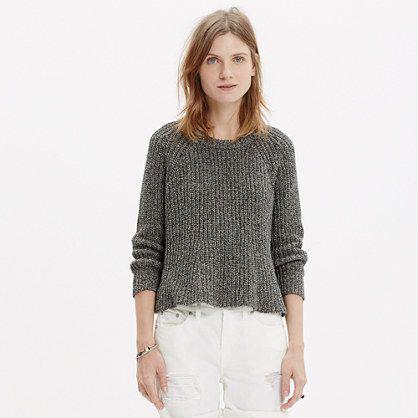 Marled Swing Crop Sweater : pullovers | Madewell