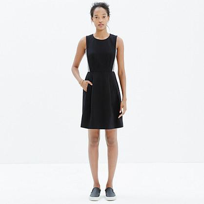 Abroad Dress in Stripe-Inset