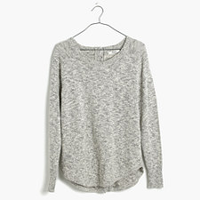 Marled Button-Back Sweater - MARLED CANVAS