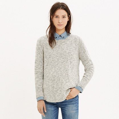 Marled Button-Back Sweater