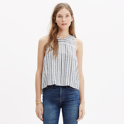 Trapeze Crop Tank in Stripe Mix