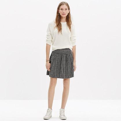 Silk Skyline Skirt in Tidalwave