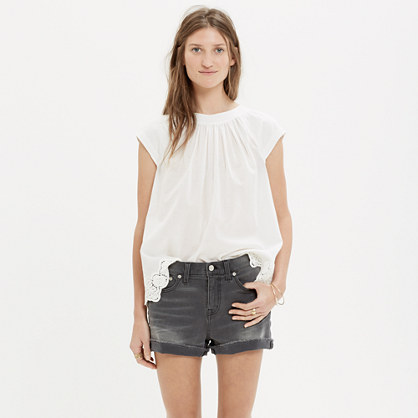 Denim Boyshorts in Greystone Wash