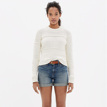 a32539db6a Leather Tote Bag  Madewell Denim Shorts
