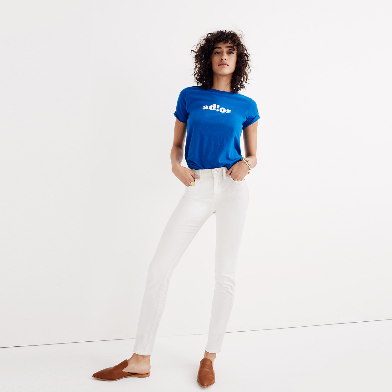 """9"""" High-Rise Skinny Jeans in Pure White : high-rise skinny jeans ..."""