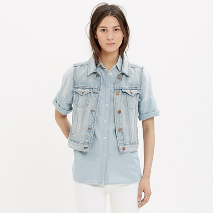 The Jean Vest in Cora Wash