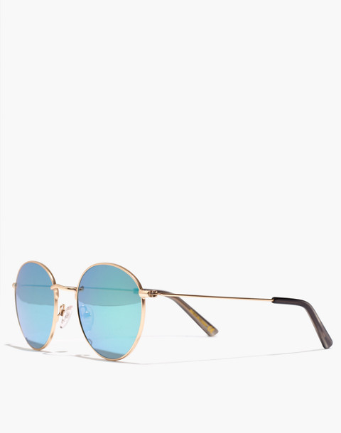 Fest Aviator Sunglasses in gold image 2