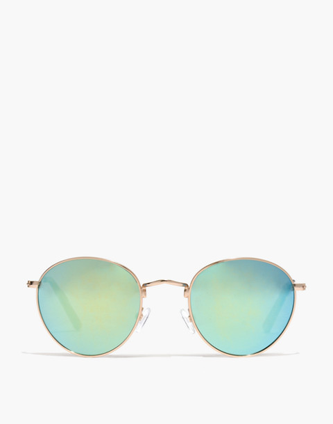 Fest Aviator Sunglasses in gold image 1